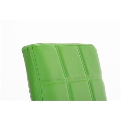 Lote 6 Sillas de Comedor o Cocina BIELSA, exclusivo diseño en costuras, en piel color verde