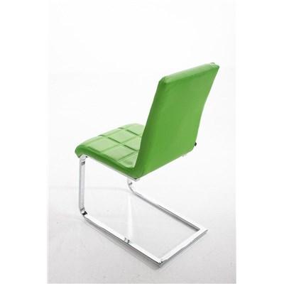 Lote 4 Sillas de Comedor o Cocina BIELSA, exclusivo diseño en costuras, en piel color verde