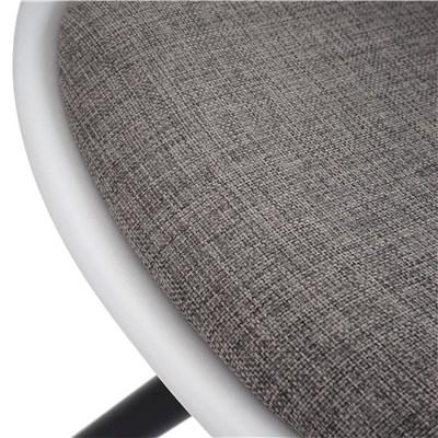 Lote 4 Sillas de Diseño CAROL, en Blanco y Patas Oscuras, Asiento Acolchado