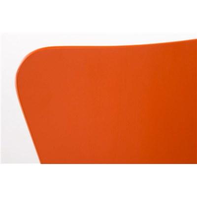 Lote 2 Sillas de Cocina o Comedor LERMA, en madera y metal, apilables, en Naranja