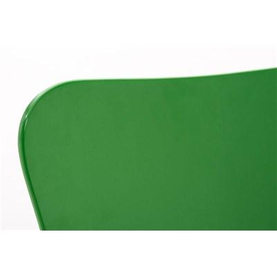 Lote 2 Sillas de Cocina o Comedor LERMA, en madera y metal, apilables, en verde