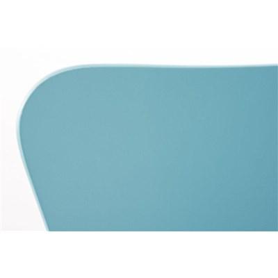 Lote 2 Sillas de Cocina o Comedor LERMA, en madera y metal, apilables, en azul
