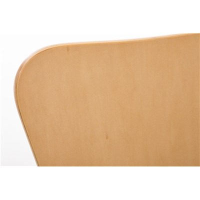 Lote 2 Sillas de Cocina o Comedor LERMA, en madera y metal, apilables, en marrón haya