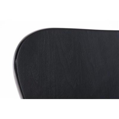 Lote 2 Sillas de Cocina o Comedor LERMA, en madera y metal, apilables, en negro