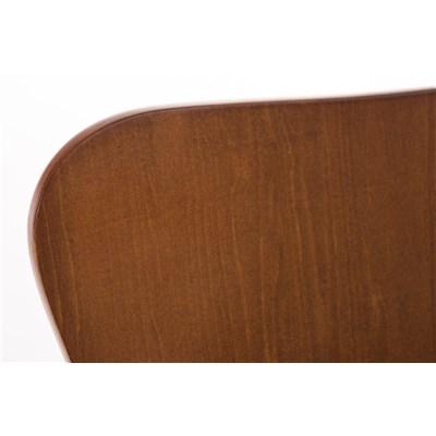Lote 4 Sillas de Cocina o Comedor LERMA, en madera y metal, apilables, en marrón cerezo