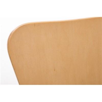 Lote 4 Sillas de Cocina o Comedor LERMA, en madera y metal, apilables, en marrón haya