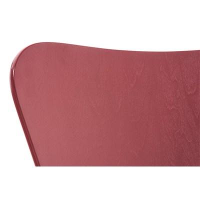Lote 4 Sillas de Cocina o Comedor LERMA, en madera y metal, apilables, en rojo