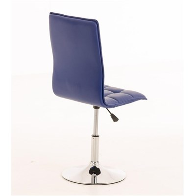 Lote de 6 sillas de Comedor o Cocina PESCARA PIEL, En Azul, Altura Regulable