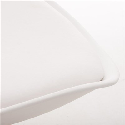 Lote de 6 Sillas de Comedor LOREN, Estructura en Plástico y Piel Blanca, Patas Blancas