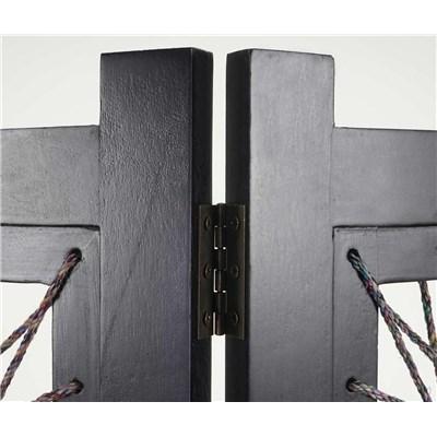 Biombo 4 paneles ALEXA, Estructura de Madera, 170x160x2cm