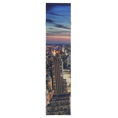 Biombo Decorativo NEW YORK, Iluminación LED incorporada, Muy Original, 180x160cm