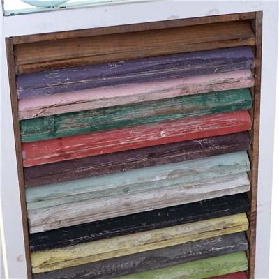 Biombo 3 paneles TIRO, de Madera y Metal, en Multicolor, 180x118x3cm