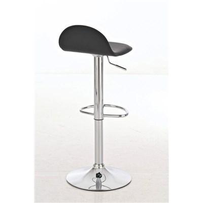 Taburete de Bar CANDELA, exclusivo diseño, ajustable en altura, en piel color negro