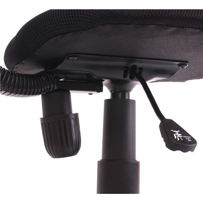 Silla de Oficina Juvenil N30, respaldo en malla, color negro