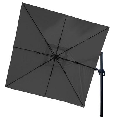 Sombrilla / Parasol POSEIDON CON SOPORTE, de 3 x 3 metros, 100% Ajustable, Cruz de suelo Incluida, en Gris