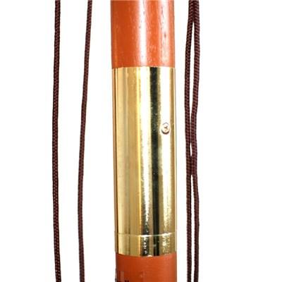 Sombrilla CANCÚN, 2 x 3 metros, Estructura Madera, Altura Ajustable, Rojo Burdeos