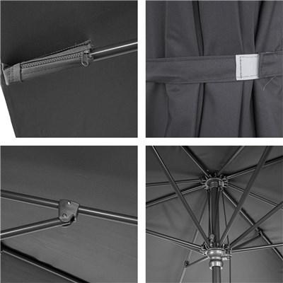 Sombrilla/ Parasol ORIGAMI, 3 x 3 metros, Aluminio Inoxidable, Gran Calidad, Gris