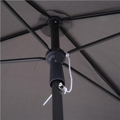 Sombrilla Rectangular RANIER, 2x1,25 metros, Estructura de Aluminio, color Gris