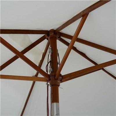Sombrilla Rectangular Inclinable EINAR, 2x1,50 metros, Estructura Madera, Color Crema