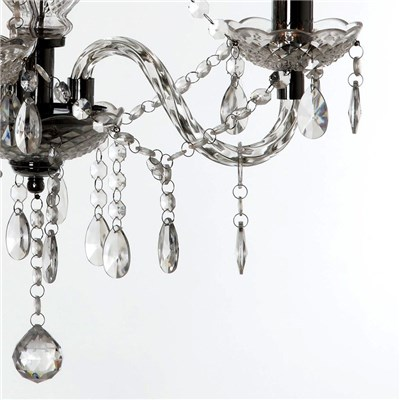 Lámpara de Techo tipo ARAÑA, con 3 puntos de luz, fabricada en vidrio acrílico transparente