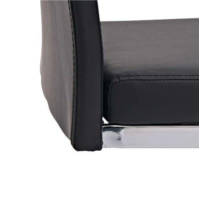 Silla de Comedor o Confidente C10, muy confortable, en piel negro