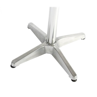 Mesa de aluminio 70/110cm regulable en altura, diámetro 60cm, plegable
