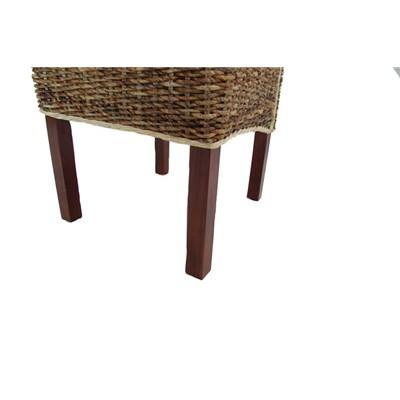 Lote 2 Sillas de comedor SABANA, en madera y mimbre color marrrón claro