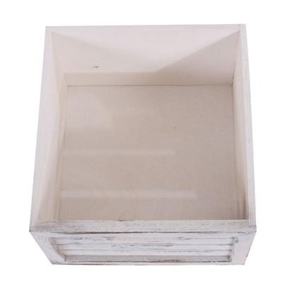 Armario cómoda 60x60x30cm, Diseño antiguo Blanco