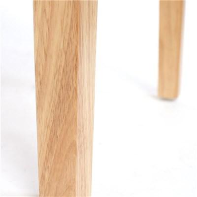 Lote 2 Sillas de Comedor TURIN, Gran estilo y calidad, tapizadas en Piel crema y patas madera claras