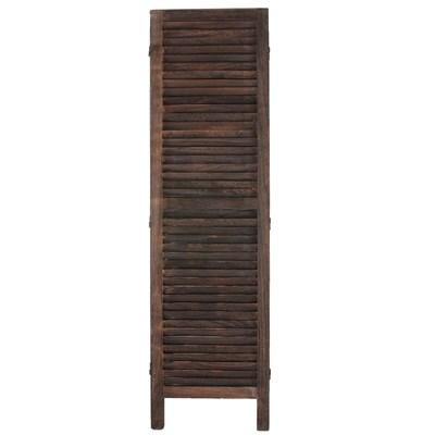 Biombo plegable dimensiones 170x228cm, 5cm de grosor, estilo clasico, vintage marrón