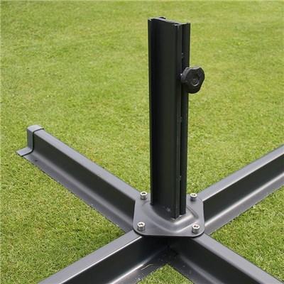 Sombrilla / Parasol IDRA CON SOPORTE, de 3 x 3 metros, Burdeos, Ajustable, Cruz de suelo Incluida