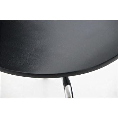 Lote 4 Sillas de Cocina o Comedor CARLO, ergonómicas, en madera y metal, modelo apilable, en Negro