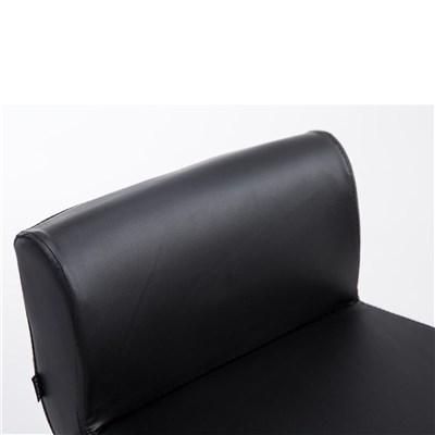 Taburete de Cocina NICOLAS, estructura cromada, ajustable en altura, en piel color negro