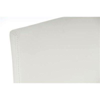 Taburete de Diseño Para Barra NEW YORK, En Piel Blanco y Estructura en Acero Inoxidable, Gran Diseño