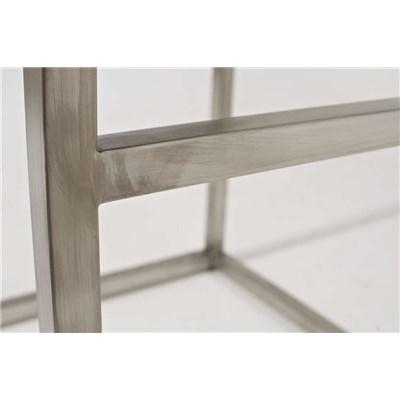 Taburete de Cocina o Bar ELSA PLUS, estructura en acero, asiento acolchado en piel color morado