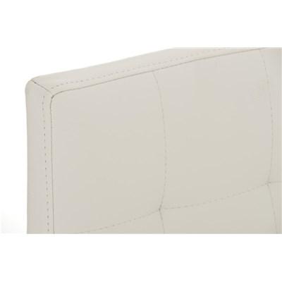 Taburete de Cocina o Bar MARTINA PRO, estructura en acero, acolchado tapizado en piel blanco