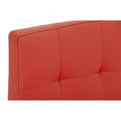 Taburete de Cocina o Bar MARTINA PRO, estructura en acero, acolchado tapizado en piel rojo