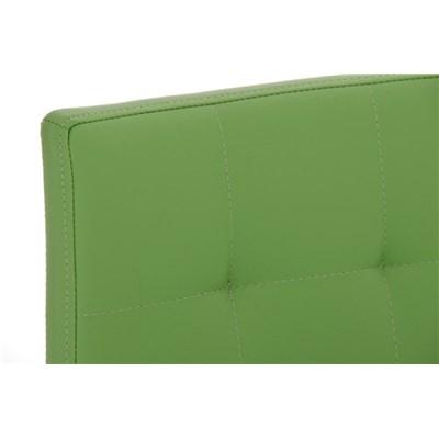 Taburete de Cocina o Bar MARTINA PRO, estructura en acero, acolchado tapizado en piel verde