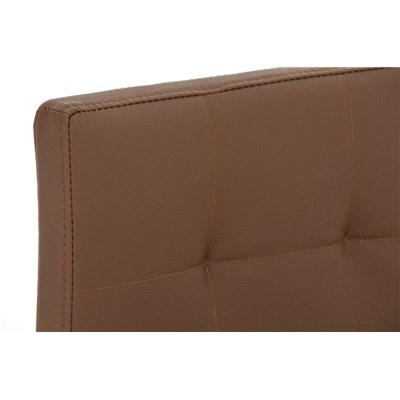 Taburete de Cocina o Bar MARTINA PRO, estructura en acero, acolchado tapizado en piel marrón claro