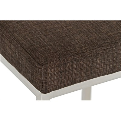 Taburete de Cocina o Bar ELSA PLUS, estructura en acero, asiento acolchado en tejido color marrón
