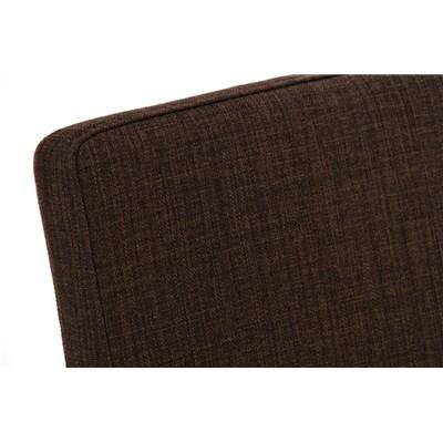 Taburete de Diseño ISAIA, En Tela Color Marrón y Estructura de Acero Inoxidable, Apoyabrazos Integrados