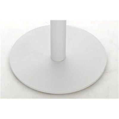 Taburete de Bar o Cocina LARA B76, En Piel Blanca y Estructura Metálica en Blanco, Gran Acolchado