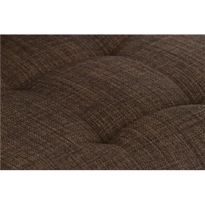 Taburete de Cocina o Bar MARTINA Tela, estructura metálica en blanco, acolchado tapizado en tejido marrón
