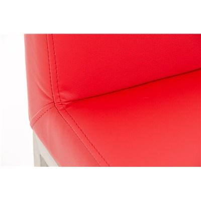 Taburete para Bar LUCIUS A, máxima calidad, estructura en acero, asiento 76cm, en piel rojo