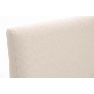 Taburete de Diseño Para Barra PARANA, En Tela Blanco y Estructura en Acero Inoxidable, Máxima Calidad