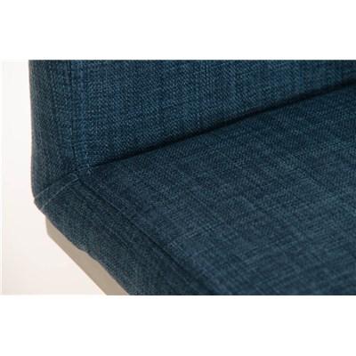 Taburete de Diseño Para Barra PARANA, En Tela Azul y Estructura en Acero Inoxidable, Máxima Calidad
