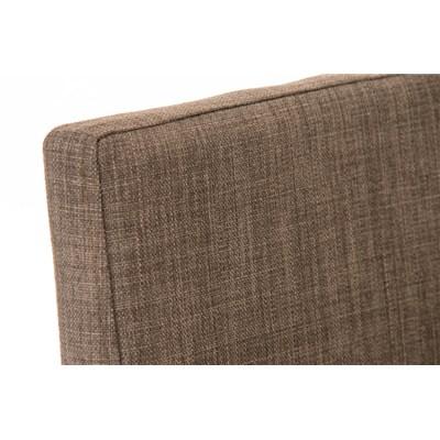 Taburete de Bar LINCON Tela, estructura de acero inoxidable, muy resistente, tapizado en tela gris