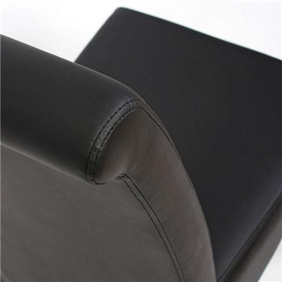 Lote 4 Sillas de Comedor TURIN, Gran estilo y calidad, tapizadas en Piel negra y patas madera claras