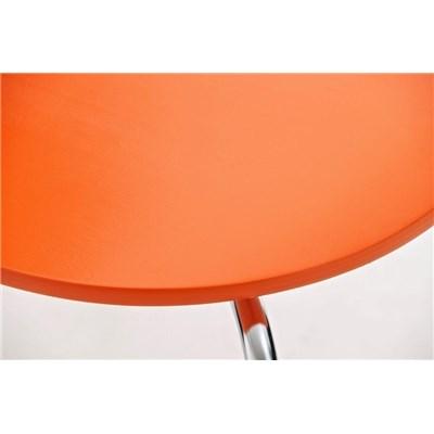 Lote 4 Sillas de Cocina o Comedor CARLO, ergonómicas, en madera y metal, modelo apilable, en Naranja