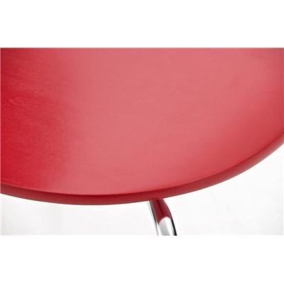 Lote 4 Sillas de Cocina o Comedor CARLO, ergonómicas, en madera y metal, modelo apilable, en Rojo